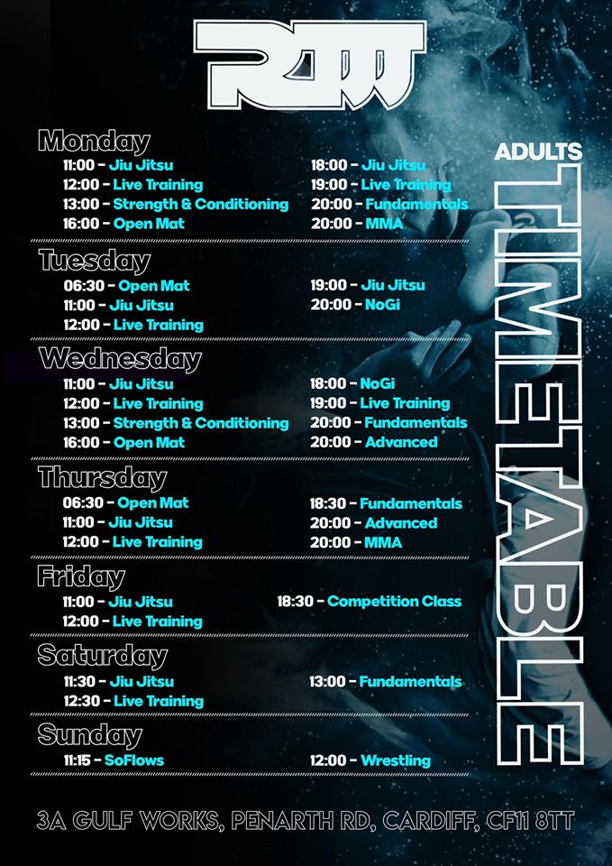 Adults Timetable